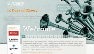Screenshot of jQuery 1.4 Website
